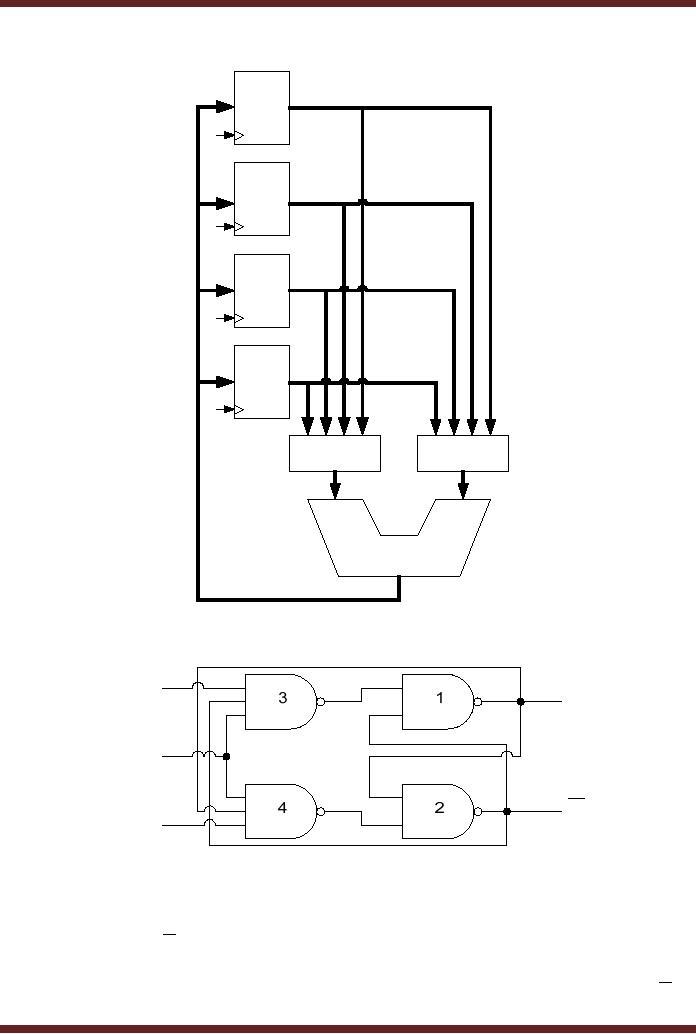 data storage using d flip flop synchronizing asynchronous